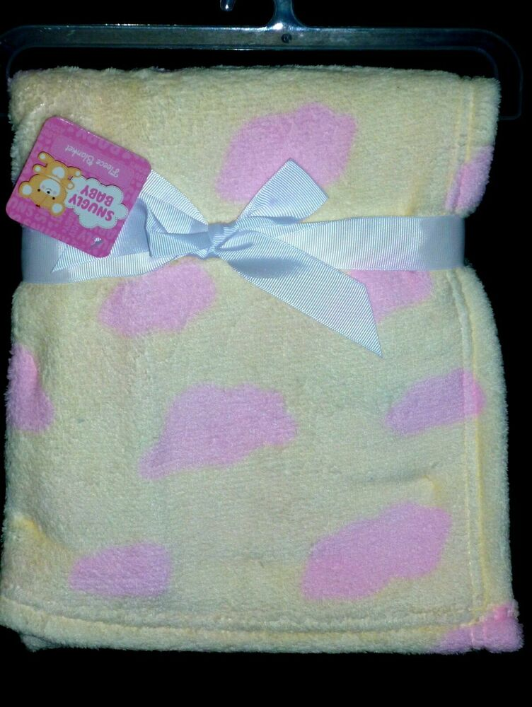 Snugly Baby Girls Fleece Soft Blanket Soft Yellow Size 30