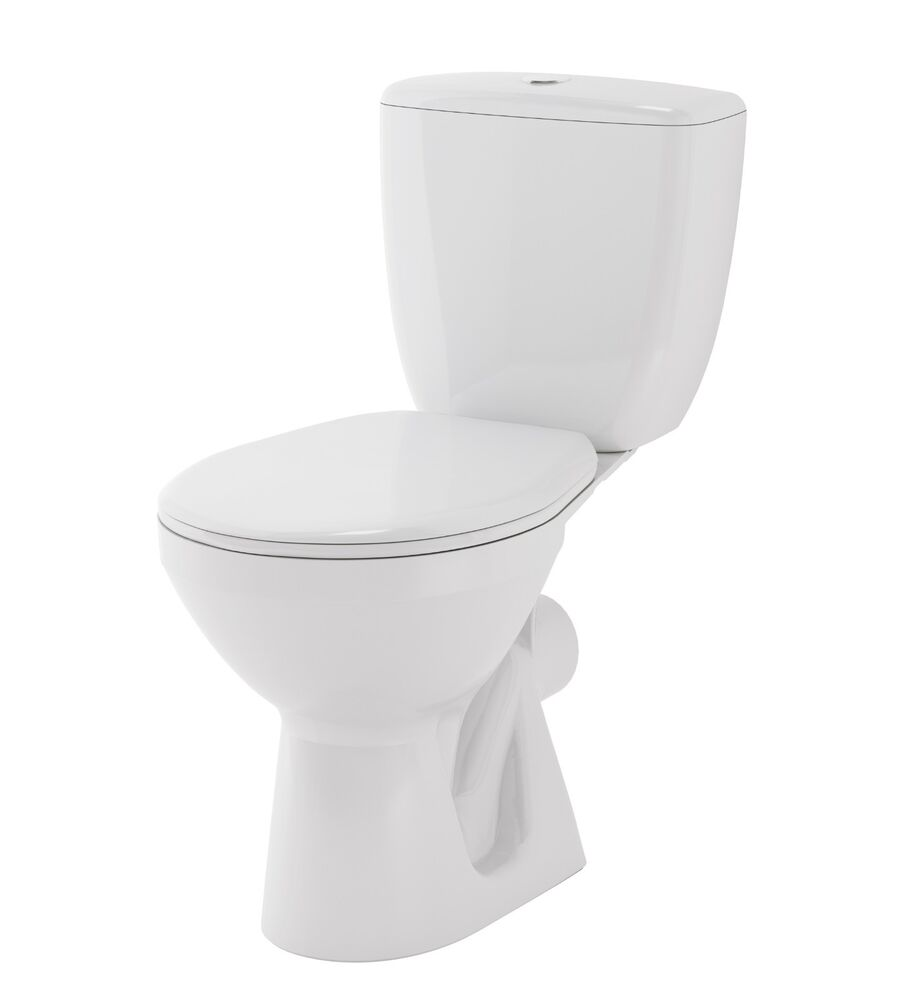 wc toilette stand tiefsp ler set bodenstehend sp lkasten keramik sitz cersanit m ebay. Black Bedroom Furniture Sets. Home Design Ideas