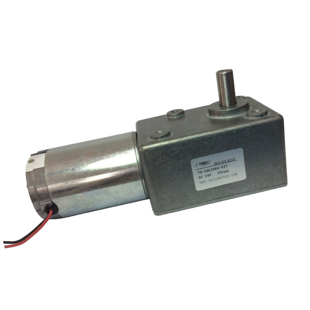 24vdc 20rpm High Torque Worm Turbo Geared Motor Right