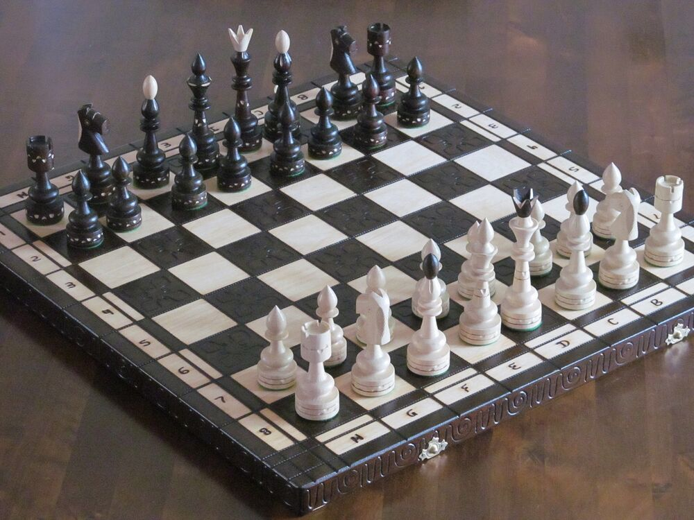Brand new luxury hand carved indian wooden chess set cm
