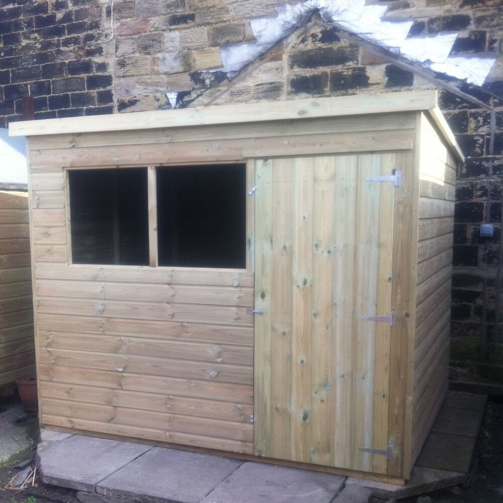 12x6 Wooden Pent Garden Shed Tongue Amp Groove Tanalised
