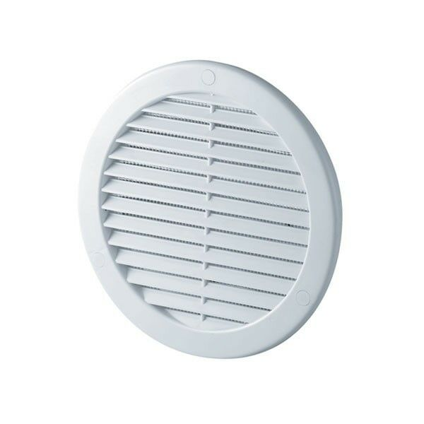 White Circle Air Vent Grille 100mm 4 Quot Round Ducting