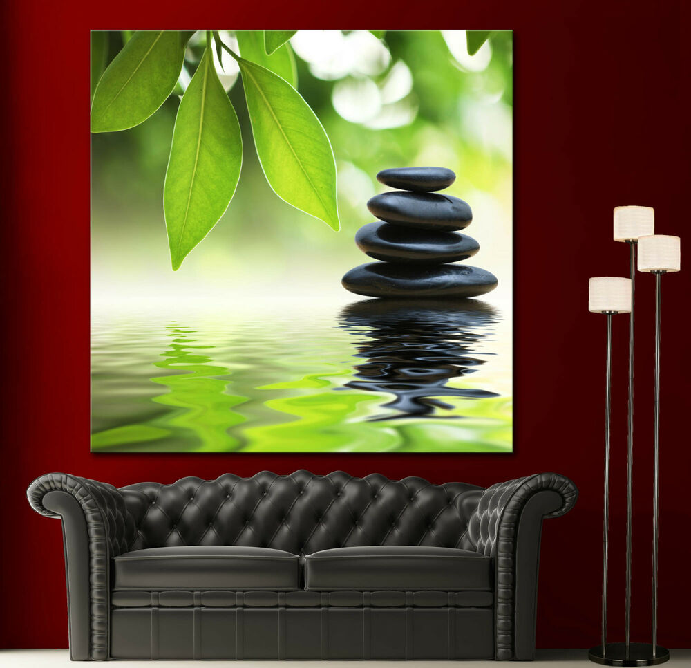 Wall art canvas giclee print spa zen colorful picture for Home decor zen