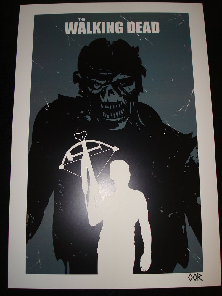 the walking dead daryl 13 x19 poster print ebay. Black Bedroom Furniture Sets. Home Design Ideas