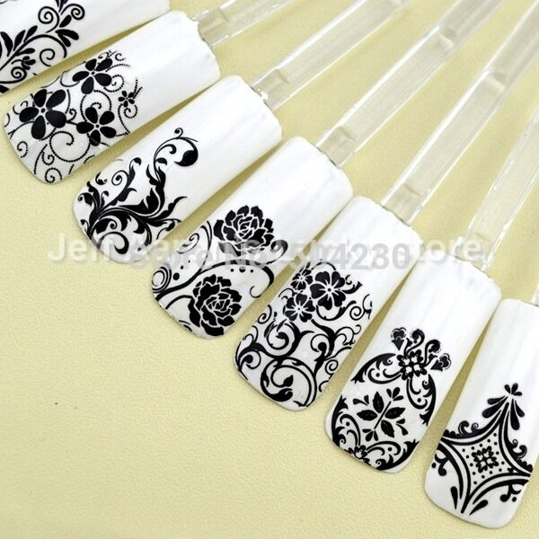 108pcs high quality 3d nail art stickers decals decoration for Avon nail decoration tool