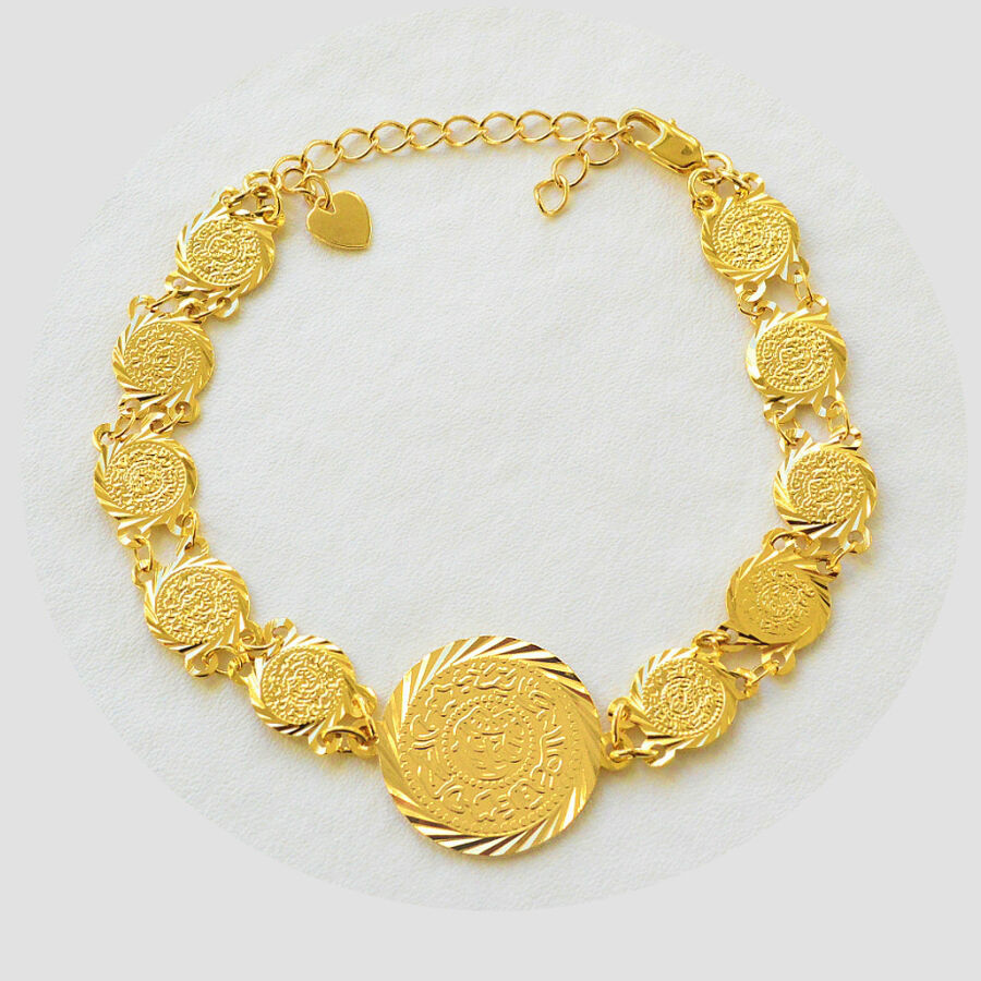 Coin Bracelet 24k Gold Plated Middle East Arabic Jewelry