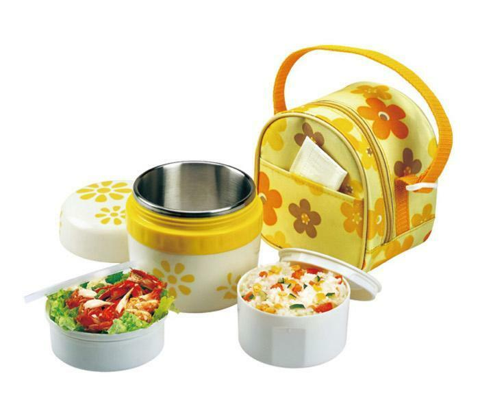 ss vacuum lunch box thermal food jar for kids metal thermos container hot cold ebay. Black Bedroom Furniture Sets. Home Design Ideas