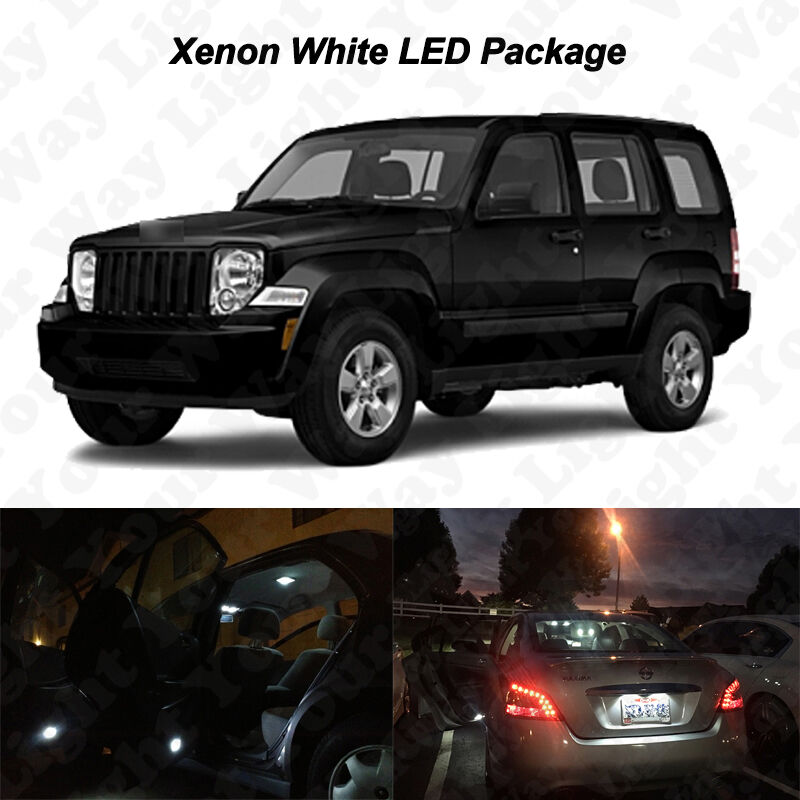 5 X Xenon White Smd Led Lights Interior Package For 2008 2012 Jeep Liberty Kk Ebay