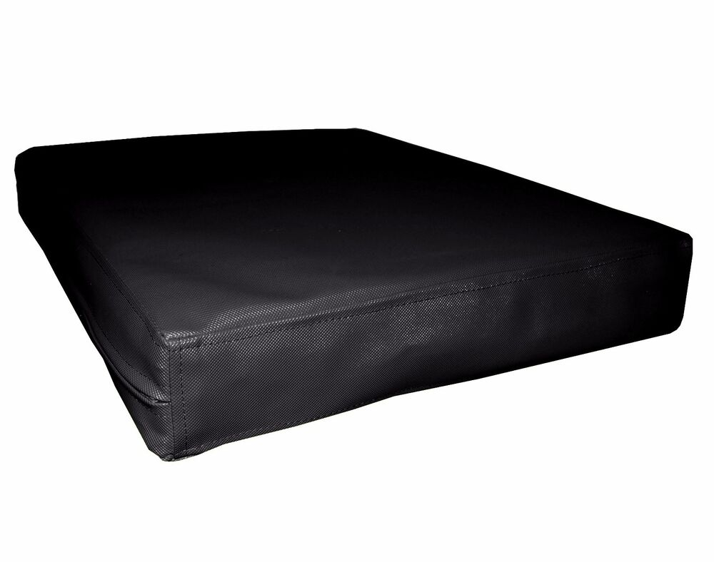 pa801t black water proof outdoor pvc 3d box sofa seat cushion cover custom size ebay. Black Bedroom Furniture Sets. Home Design Ideas