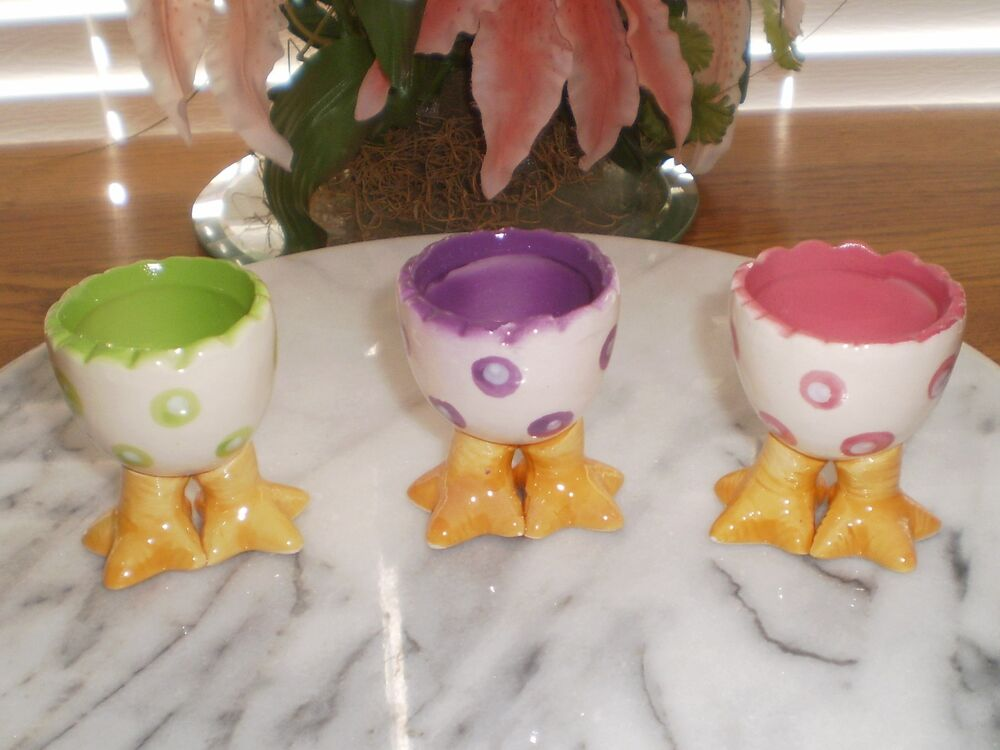 One 1 Ceramic Easter Egg Holder Decor Cup Collection