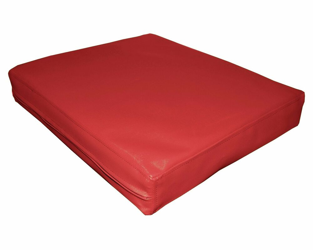 Pa805t red water proof outdoor pvc 3d box sofa seat for Sofa exterior pvc