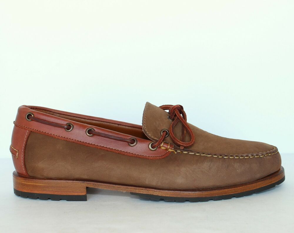 hitchcock mens casual nubuck loafer 1266 taupe new size