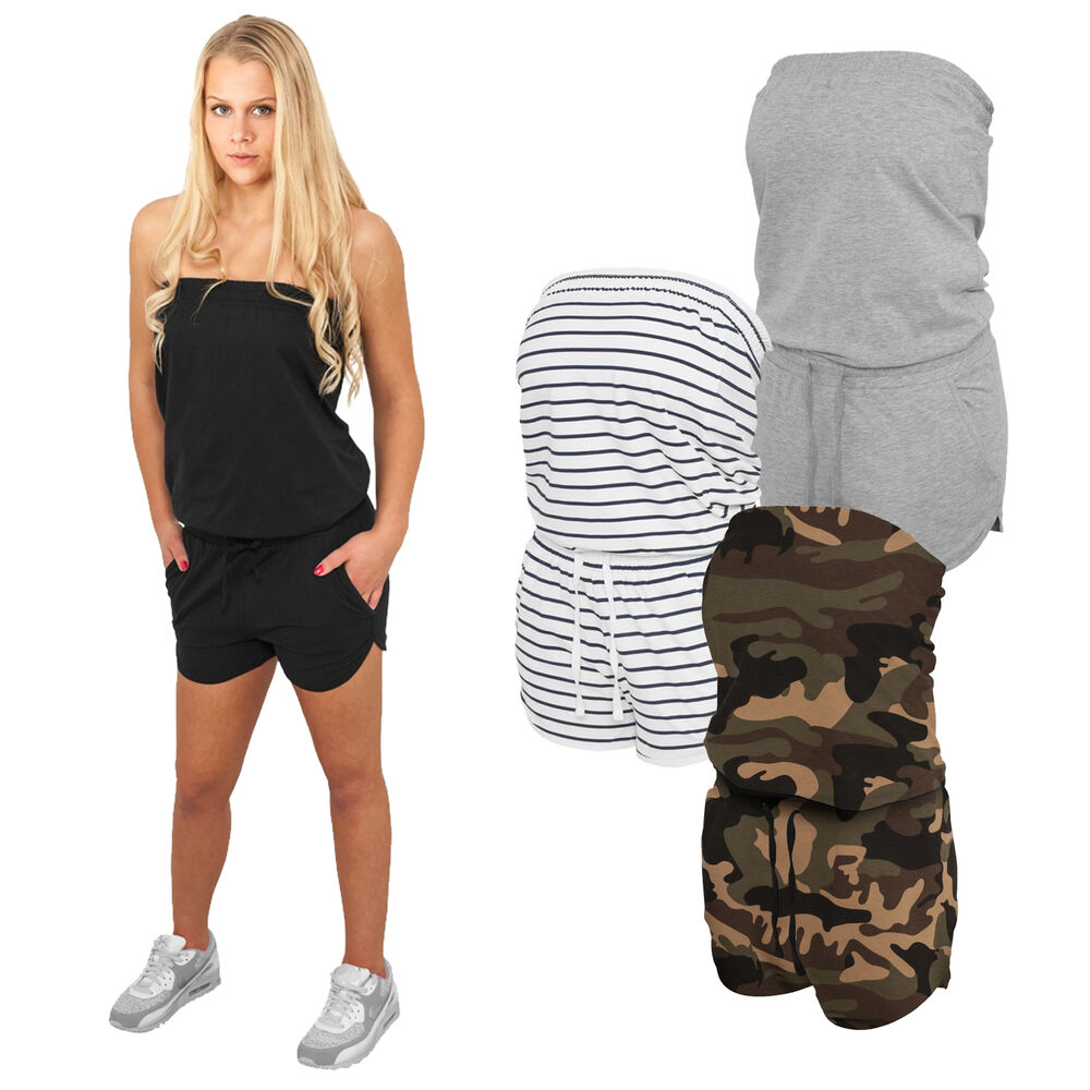 urban classics sommer jumpsuits kurzer damen overall neu camo stripes hot ebay. Black Bedroom Furniture Sets. Home Design Ideas