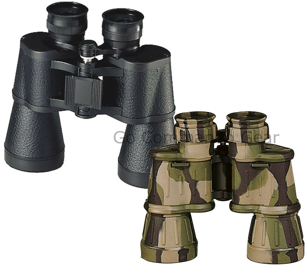 Full Size Camo Or Black Binoculars With Case - 10 x 50 MM ...