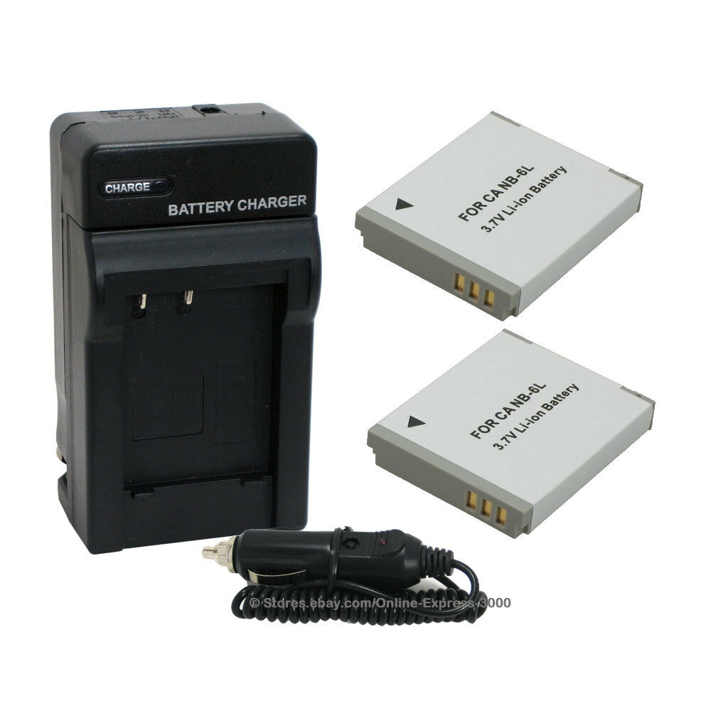 2 Nb 6l Nb6l Battery Charger For Canon Powershot Sd770