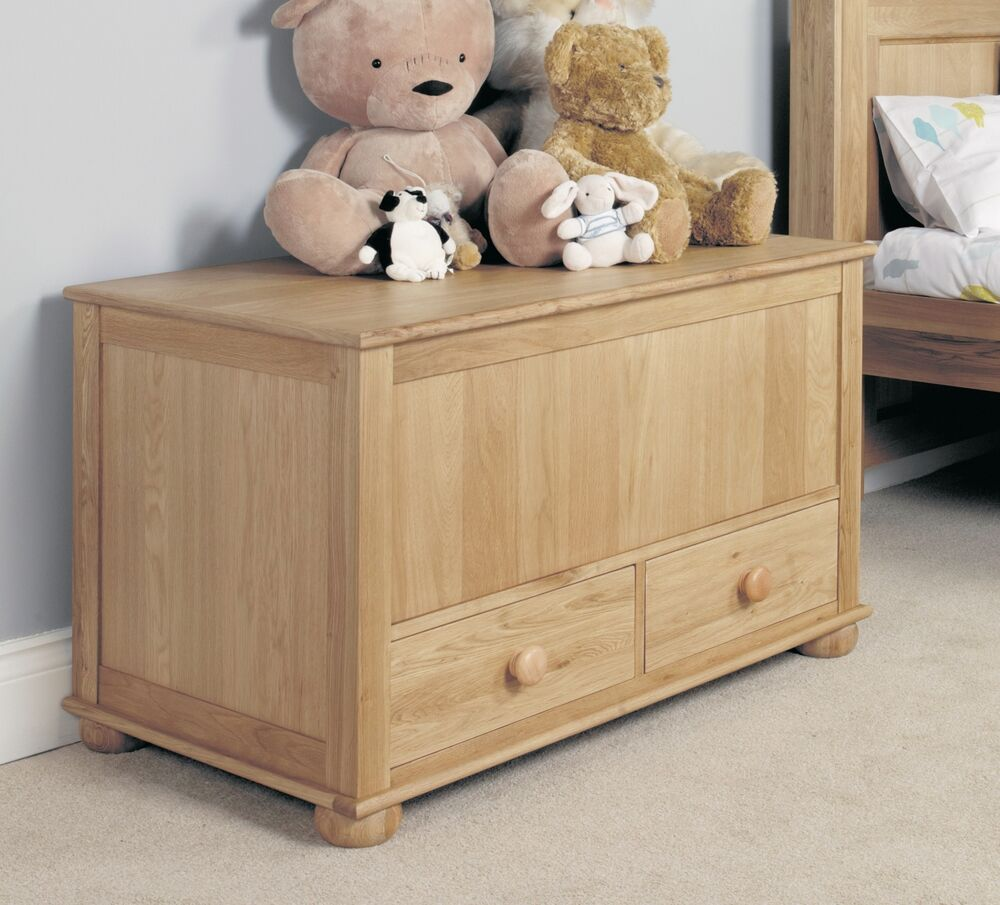 Amelie Childrens Bedroom Furniture Oak Toy Blanket Storage Box Ebay