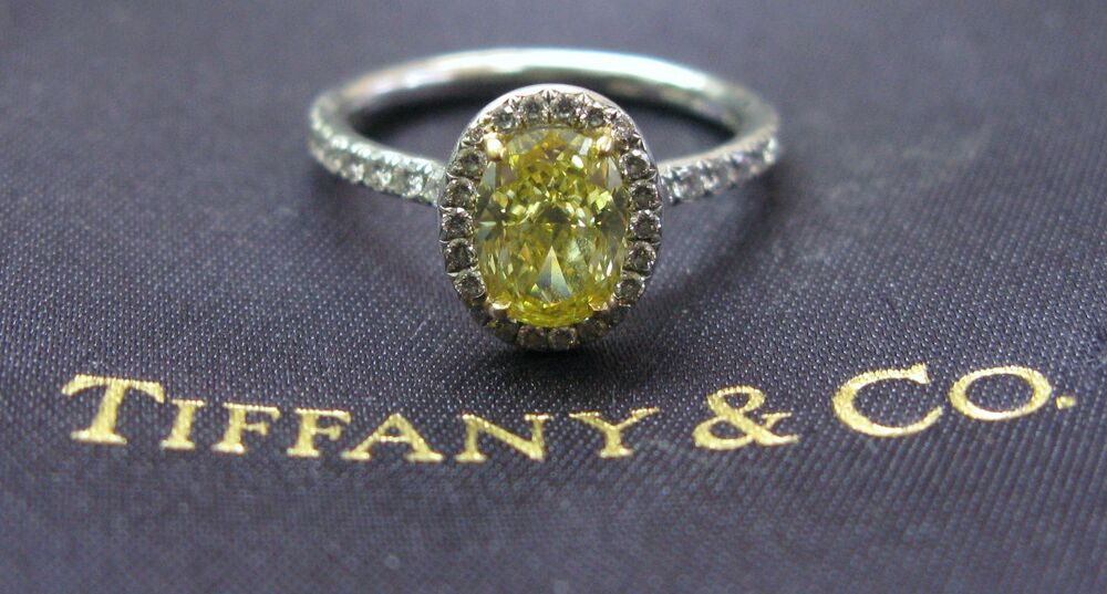 Tiffany Amp Co Plat Fancy Intense Yellow Diamond Soleste