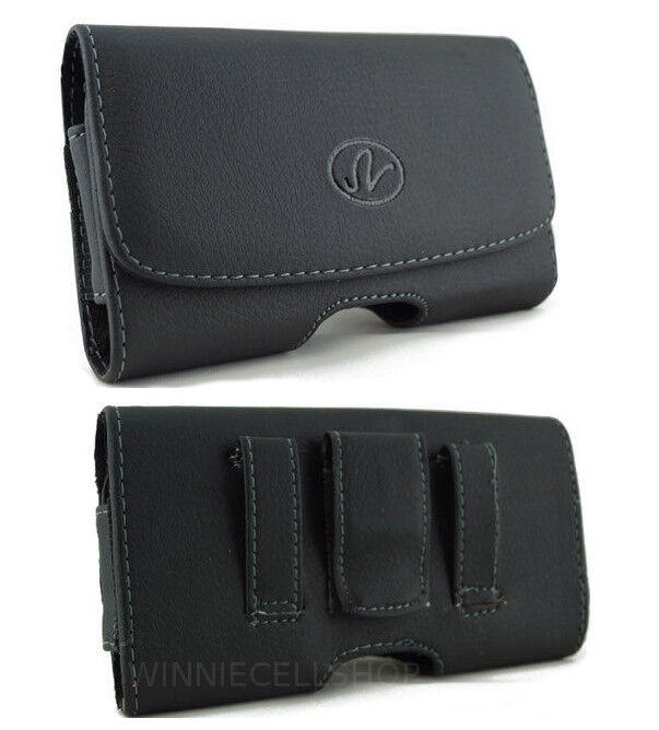 leather horizontal belt clip pouch holster magnetic