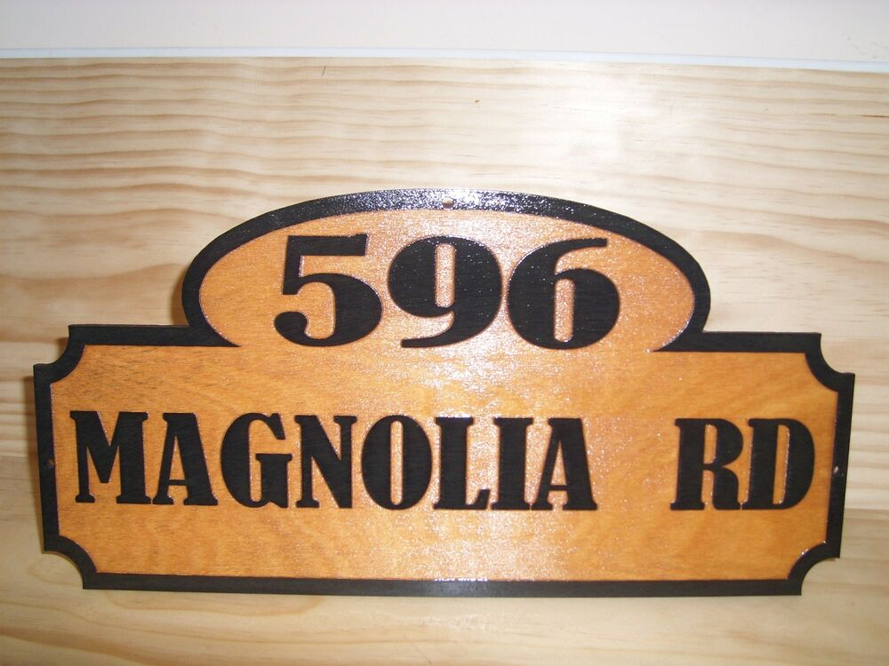 personalized street house address number wood sign birch. Black Bedroom Furniture Sets. Home Design Ideas