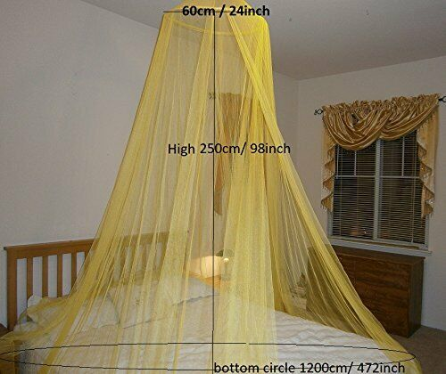 Round Hoop Bed Canopy Mosquito Net For All Size Bed Party