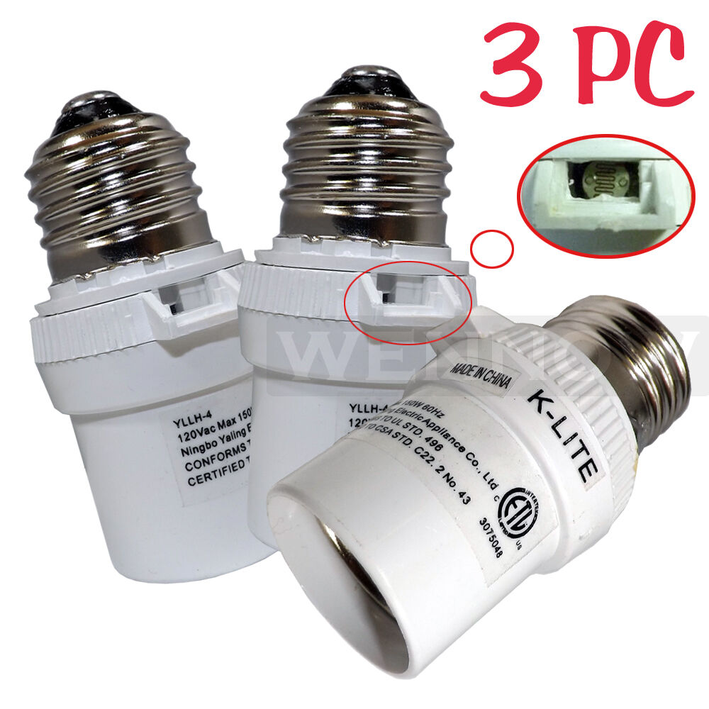 Photo Out Door Dusk: 3 Pcs White Dusk To Dawn Photocell Light Control Auto