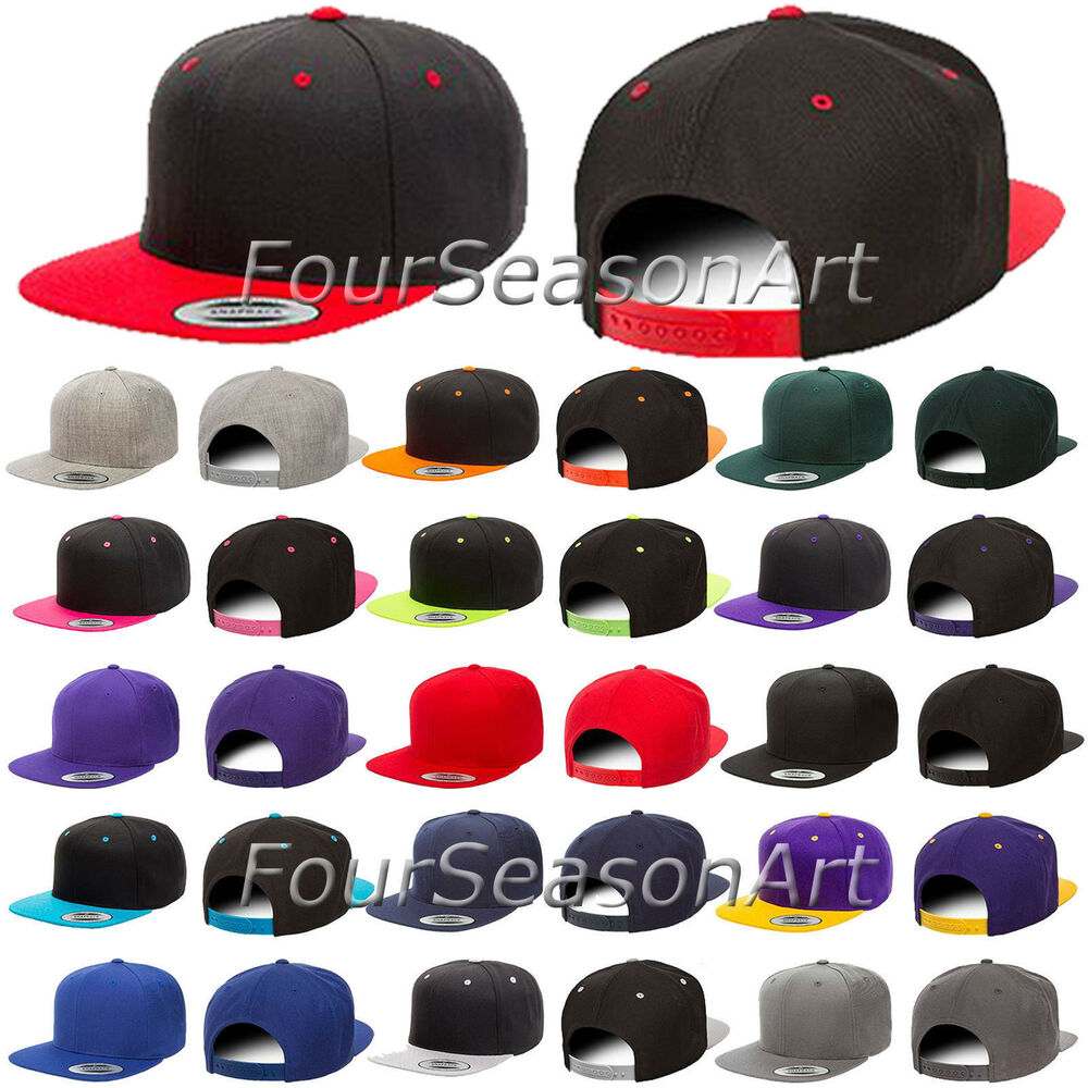 94f7b311251 Details about Yupoong Wool Blend Flat Bill Snapback Cap Mens Baseball Hat  6089M - 6089