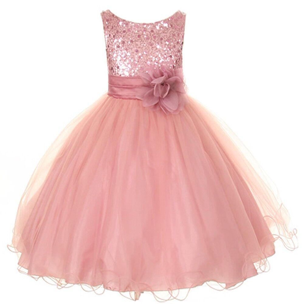 Birthday Dresses For Girls: Sequin Flower Girl Dress 2-14 Birthday Pageant Holiday