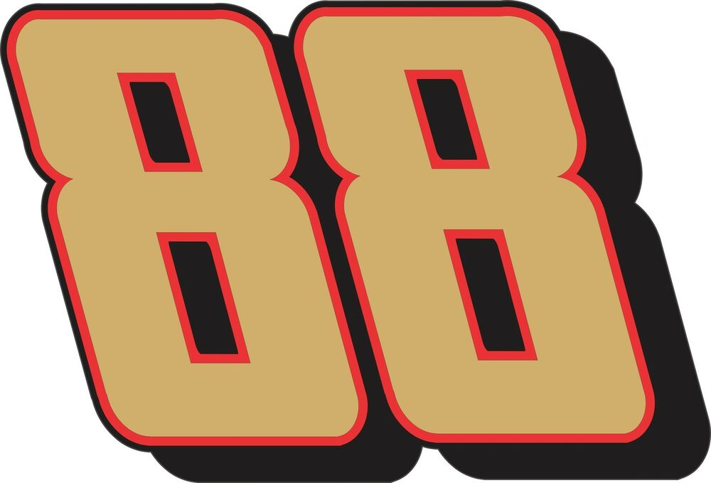 Dale Earnhardt Jr  88 Nascar Red Or Gold 4 Sizes 5 Year