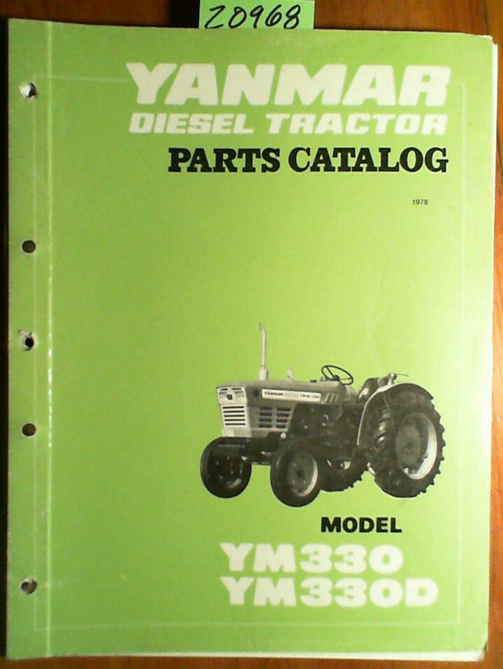 Tractor Parts Catalogues : Yanmar ym d diesel tractor parts catalog manual