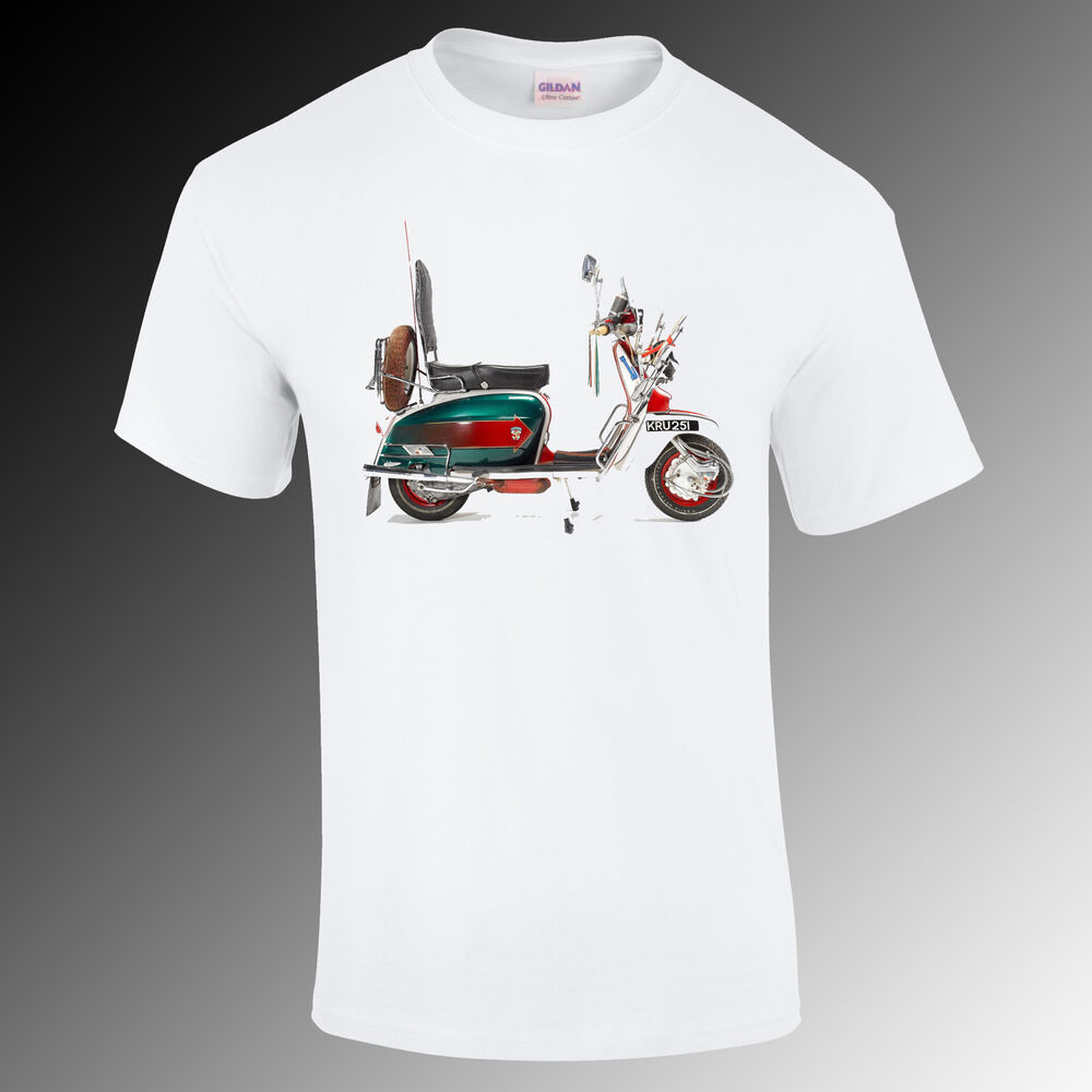 quadrophenia lambtetta mod vespa t shirt scooter gift funny s xxl ebay. Black Bedroom Furniture Sets. Home Design Ideas
