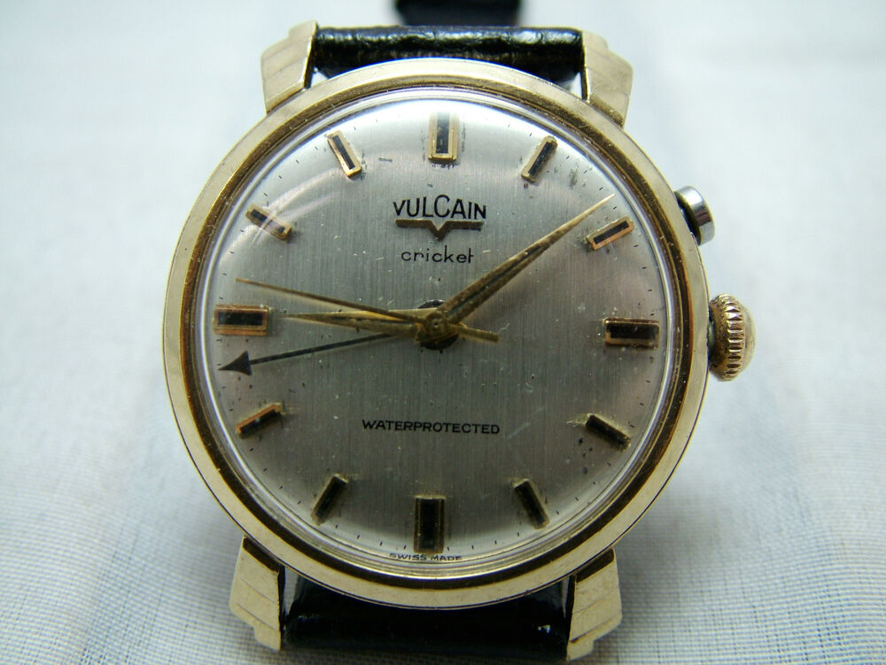 vulcain cricket alarm vintage watch gold filled ebay
