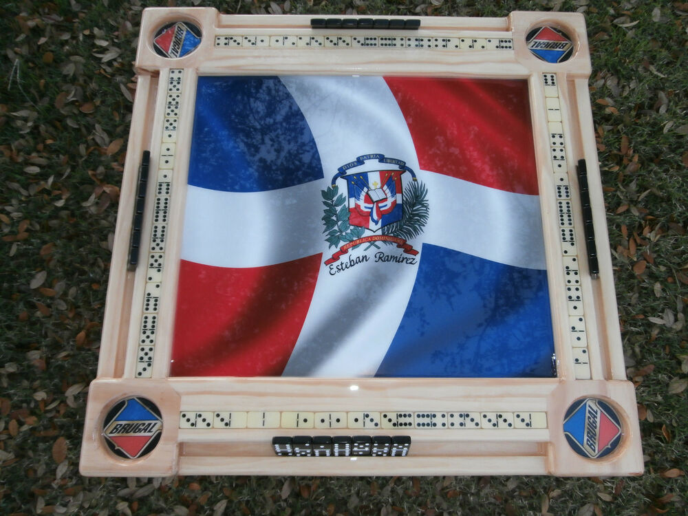 Domino tables by art with bandera dominicana and brugal cupholders ebay - Domino table de multiplication ...