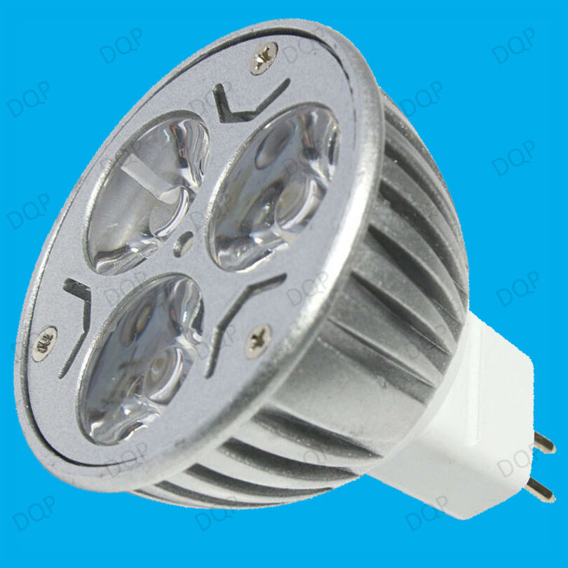 4x 9w 3x3w Dimmable Led Mr16 Gu5 3 12v Spot Light Bulbs Daylight White Lamps Ebay