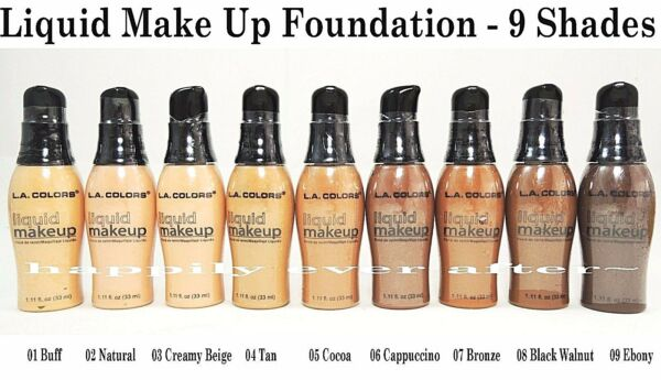 L.A. Colors Liquid Foundation - Make Up Face Foundation - 9 Shades *US SELLER*