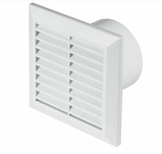 EXTRACTOR BATHROOM FAN BASIC//HUMIDISTAT/&TIMER 100mm GRAVITY GRILLE
