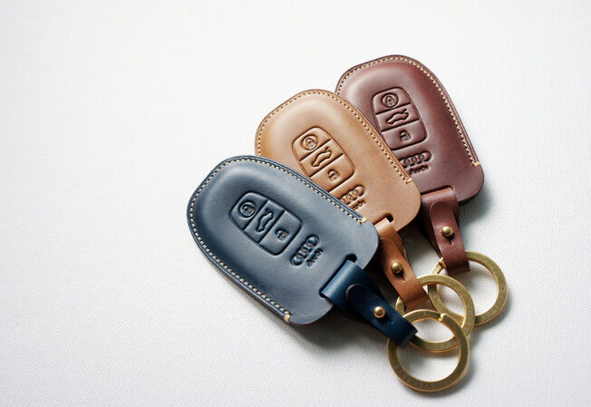 Smart Key Audi Rs >> Leather Smart Key Chain Case Cover Fob For AUDI A3,A5,A6,S5,Q5,RS4 | eBay