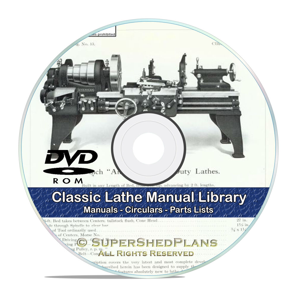 350 Lathe Owners Manuals, Instructions and Parts Lists, Atlas, Oliver CD  DVD V46 741533276622 | eBay