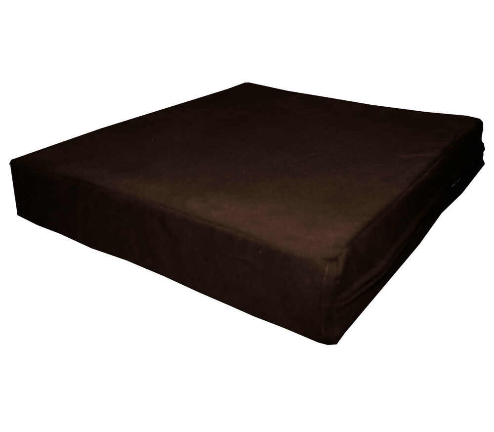 Mb65t Brown Flat Velvet Style 3d Box Sofa Seat Cushion
