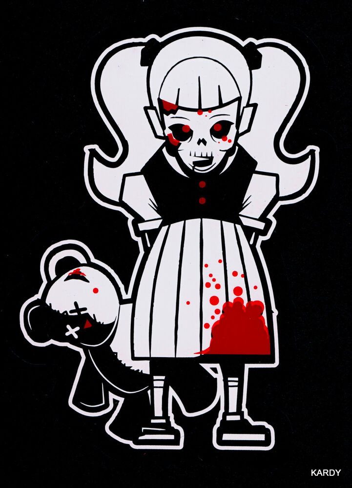 Bloody Zombie Kid Girl Teen Daughter Family Car Decal