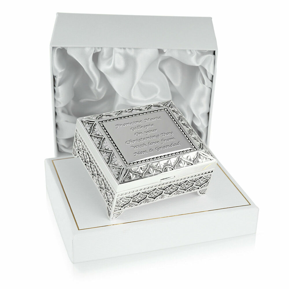 Girls Christening Gifts Engraved Girl S Silver Plated