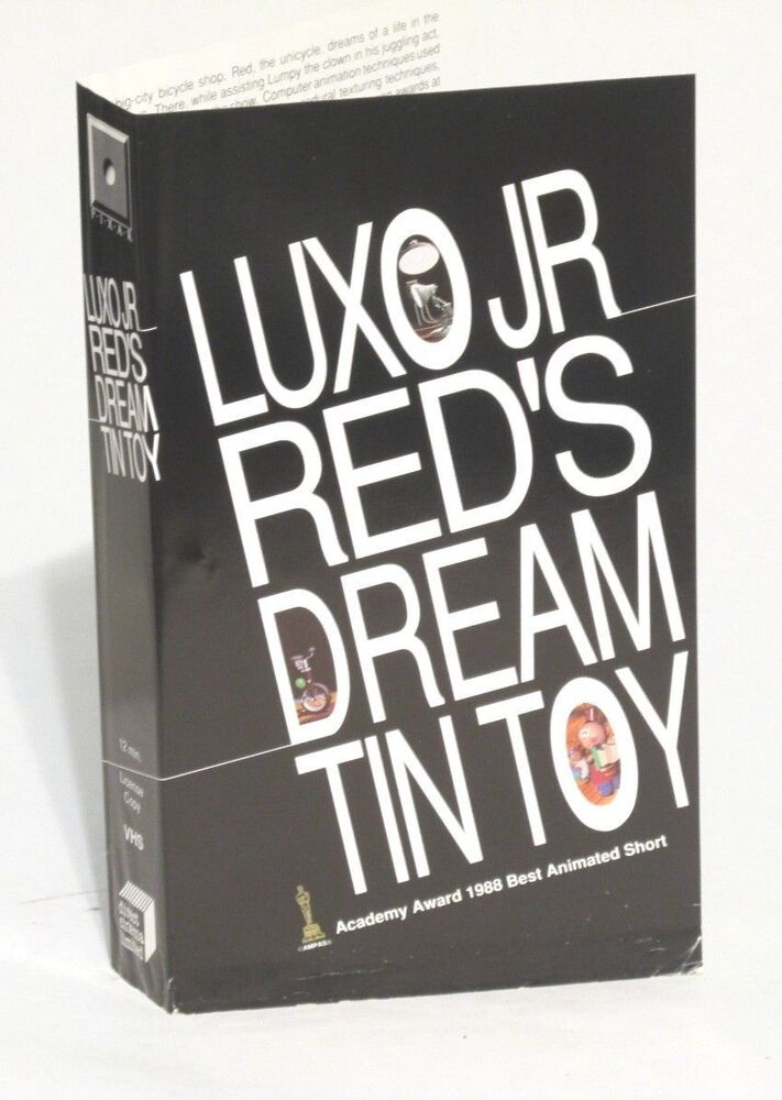 Sell Vhs Tapes >> Pixar RARE Demo VHS Luxo Jr/Red's Dream/Tin Toy OSCAR 1988 ...