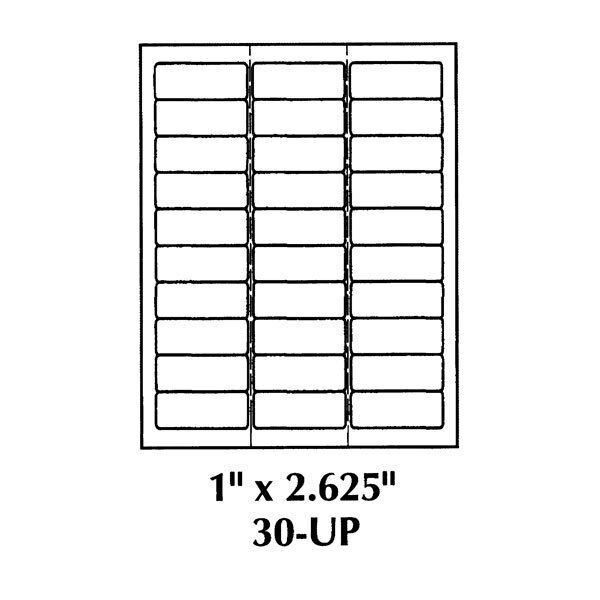 1 x 2 5 labels 2 5 8 x 13939 shipping labels 30 labels per page 300