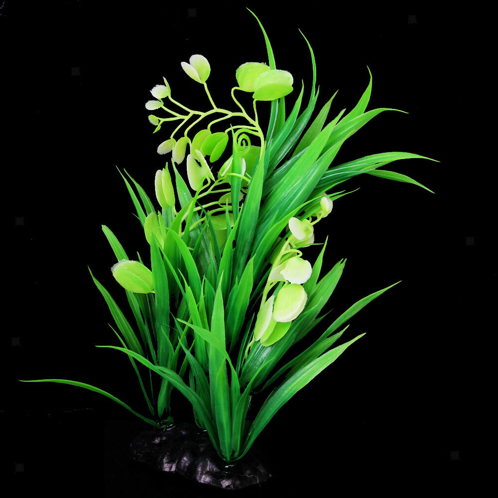 Green plastic plants grass for aquarium fish tank ornament for Artificial plants for outdoor ponds