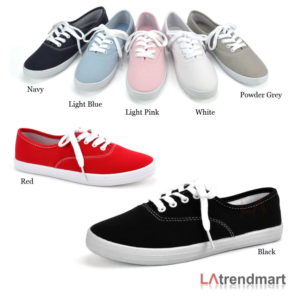 toe sneakers casual canvas athletic lace up