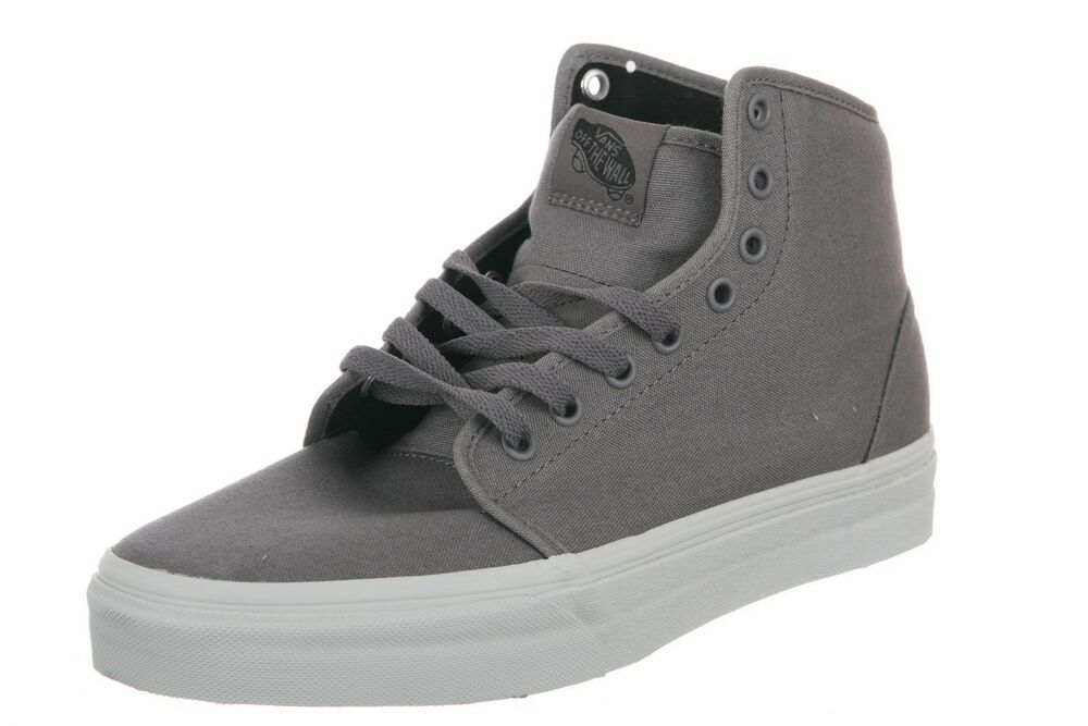 6a3015087e Details about Vans 106 HI Smoked Gray Metal SK8 106 Men s Skate Shoes Size  13