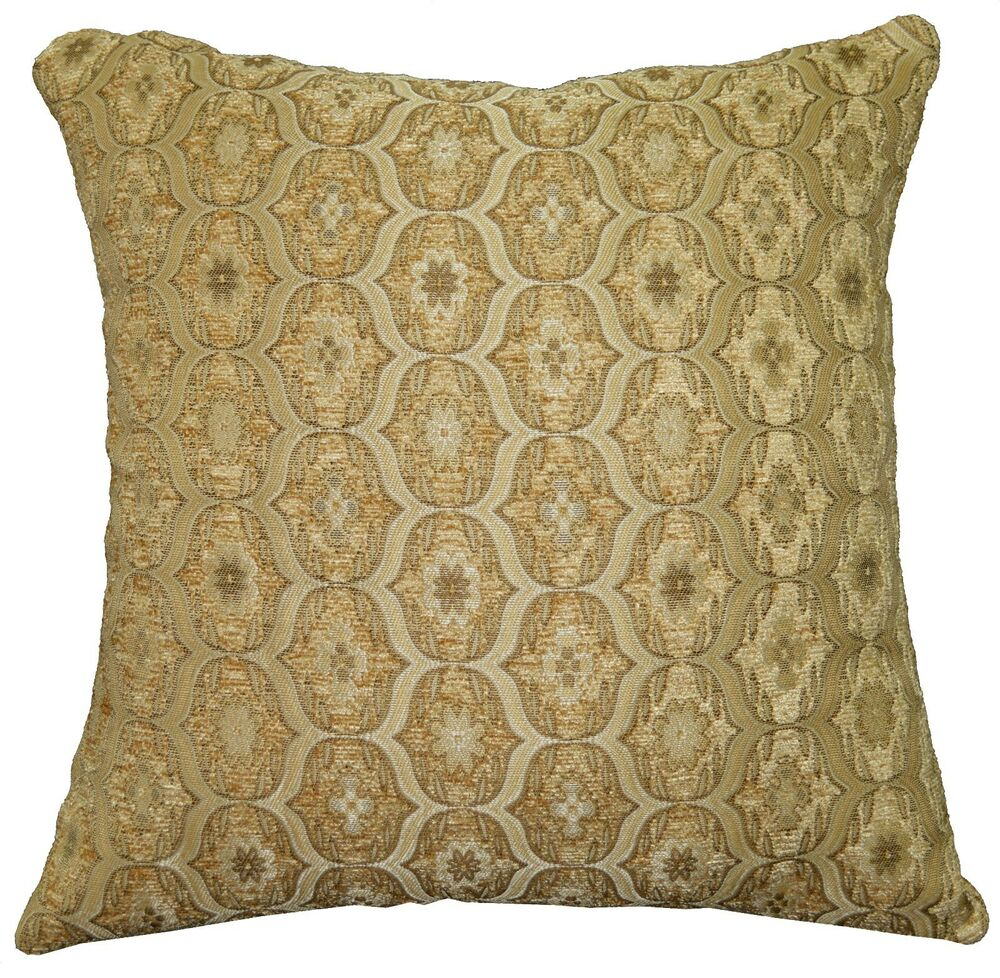 Chenille Throw Pillow Covers : we63a Beige Damask Check Chenille Throw Pillow Case/Cushion Cover*Custom Size eBay