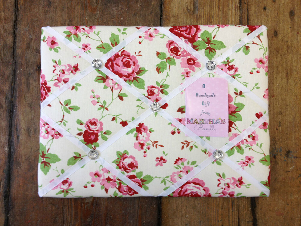 cath kidston ikea rosali fabric memo notice board 30x40cm pretty shabby chic new ebay. Black Bedroom Furniture Sets. Home Design Ideas