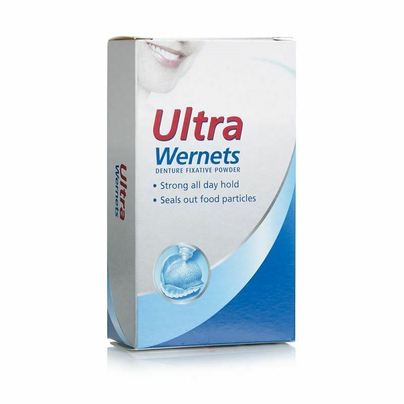 Secure Denture Adhesive >> Wernets Polygrip Ultra Denture Fixative Powder 40g | eBay