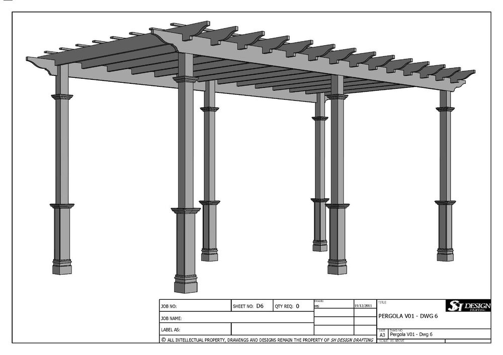 Grape vine pergola outdoor patio cover v1 full for Outdoor structure plans