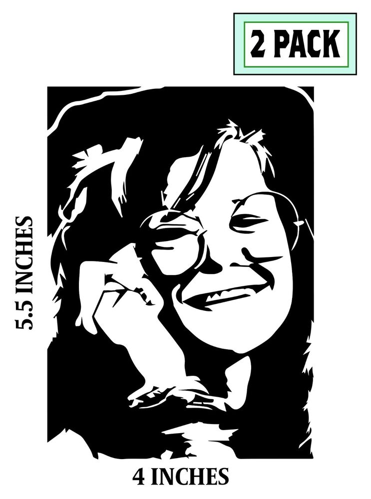 2 Janis Joplin Stickers Cut Vinyl Decal Big Brother And